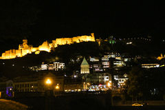 Night view of the Tbilisi Old Town Royalty Free Stock Photo