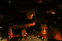Night view of the Tbilisi Old Town Royalty Free Stock Photos