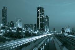 Night view on Tel Aviv. Royalty Free Stock Photo