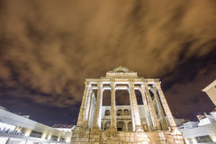 Night view of Temple of Diana in Merida (Front View) Stock Photos
