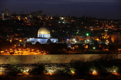 Night view of Temple Mount Stock Photography