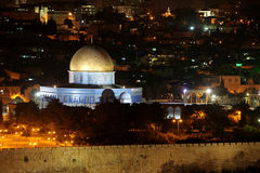 Night view of Temple Mount Royalty Free Stock Image