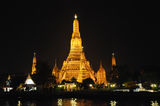 Night view of temples in Bangkok Stock Photos