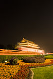 Night View of Tiananmen Stock Image