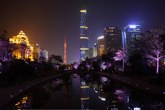 Night view of the Tianhe Royalty Free Stock Photo