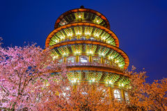 Night view of Tien-Yuan temple Stock Image