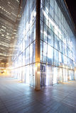 Night view to glass decorated shopping building Stock Image