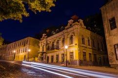 Night view to Kiev Academic Drama Theatre on Podol Stock Photos
