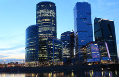 Night view to Moscow city Stock Image