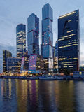 Night view to Moscow city Royalty Free Stock Photo