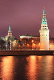 Night view to Moscow Kremlin Stock Image