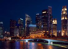 Night view to Singapore Stock Photography