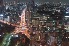 Night view of Tokyo Royalty Free Stock Photos