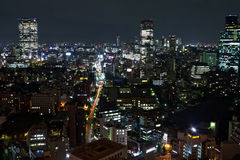 Night view of Tokyo. Picture was taken in the hotels area Royalty Free Stock Photo