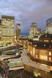 Night view, Tokyo railway station Stock Image