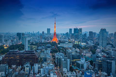 Night view of Tokyo Skylines. Tokyo, Japan - Nov 22, 2015: Night view of Tokyo Skylines.Tokyo is both the capital and largest city of Japan. The Greater Tokyo Stock Photo