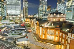 Night View Tokyo Station Stock Photos