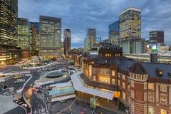 Night view of Tokyo Station Tokyo Royalty Free Stock Photos