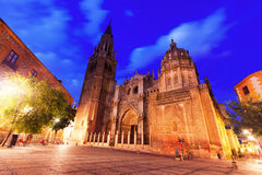 Night view of Toledo Cathedral Royalty Free Stock Photography