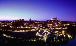 Night view of Toledo city. Stock Photos