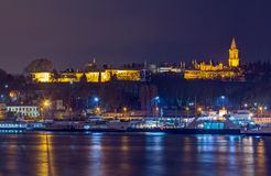 Night view of Topkapi Palace, Istanbul, Turkey Stock Image