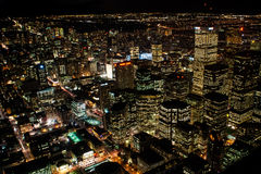 Night view at Toronto Downtown Stock Photos