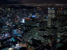 Night view at Toronto Downtown Royalty Free Stock Photography