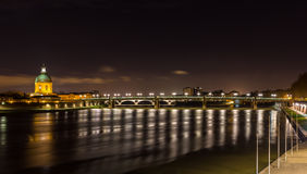 Night view of Toulouse - Midi-Pyrenees, France Stock Photography