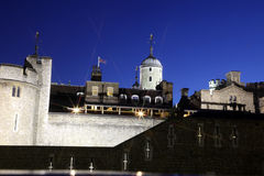 Night view of Tower in London, UK Stock Photos