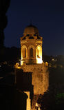 Night view of the tower of the San Giovanni Battista Church Stock Images