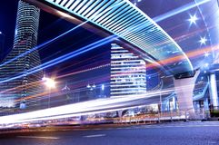 The night view of the traffic in Shanghai Royalty Free Stock Photography