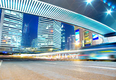 The night view of the traffic in Shanghai Stock Images