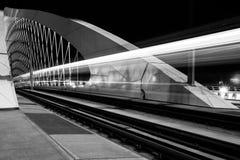 Night view of Troja bridge, Prague Stock Photography
