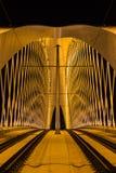 Night view of the Troja Bridge from the river Vltava, Trojsky most, Prague, Czech republic Royalty Free Stock Photos