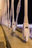Night view of the Troja Bridge from the river Vltava, Trojsky most, Prague, Czech republic Royalty Free Stock Image