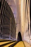 Night view of the Troja Bridge from the river Vltava, Trojsky most, Prague, Czech republic Stock Image