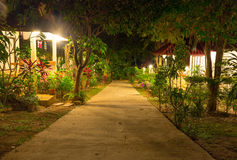 Night view of tropical resort at Koh Samui island Thai Royalty Free Stock Photo