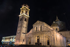 Night view of Turin Cathedral, Italy Royalty Free Stock Photos