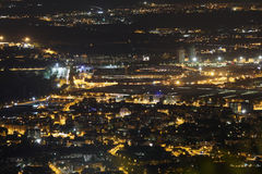 Night view of the Turin city with many city lights Stock Photo
