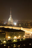 Night view of Turin town square Stock Image