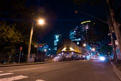 Night view of a typical classical suburb in Sydney Australia Stock Photo