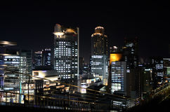 Night view of Umeda, Osaka Japan. Royalty Free Stock Photo