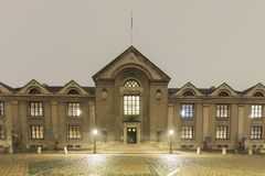 Night view of the University of Copenhagen Royalty Free Stock Image