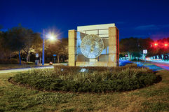 Night view of University of South florida Stock Photography