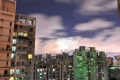 Night view of urban Landscape Royalty Free Stock Photos