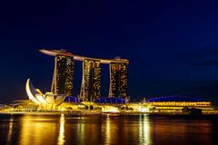 Night view of Singapore Royalty Free Stock Photo