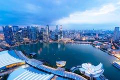 Night view with urban skyscrapers, Singapore Stock Photos