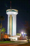 Night view of USF water tower Stock Image