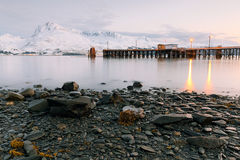 Night view of Valdez Alaska Royalty Free Stock Photo