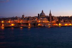 Night view of Valletta, Malta Royalty Free Stock Photography